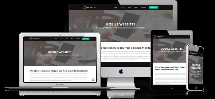 Mobile Responsive Websites by Techtris Los Angeles Web Design